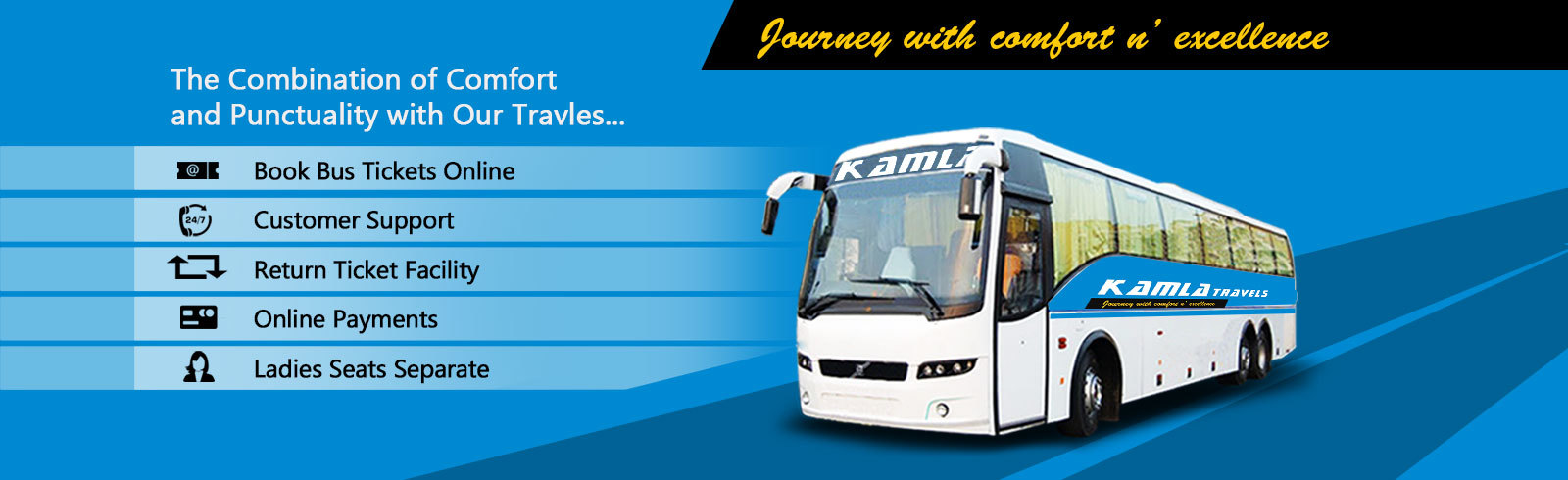 Cheap Bus Tickets | Bus Offers | Kamla Bus